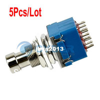 Wholesale 5Pcs PDT Pin Stomp Foot Pedal Switch True Bypass Blue TK0179