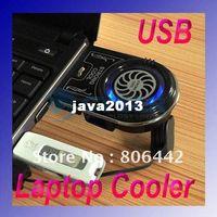 Cheap Cheap Mini Vacuum Case Cooler USB Cooling Fan for Laptop Notebook idea FYD-738 Blue LED light