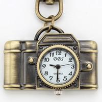 Wholesale Classic vintage Watch Key Ring Alloy Analog Keychain Watch Bronze Keyring Pocket Watches Women Men Clip Lobster Bronze Quartz Pendant