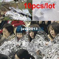 Wholesale 10Pcs Waterproof Emergency Survival Blanket Rescue Space Foil Thermal Blanket first aid Sliver