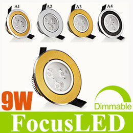 Crazy Price-9W 3X3W LED Downlight 3.5 inch Fixture Recessed Down Lights+Power Driver Cabinet Lamps AC110-240V Warm Cool White Dimmable Non