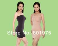 Bodysuits Women Body Shaper 300pcs lot Body Shaper Slip Ladies Magic Skirt Shapewear SHaper dress Nude, Black, White (OPP bag)