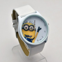 Wholesale Anime Silicone Children Novelty Cartoon Watches dress watch Despicable Me Minions Wristwatches Christmas Gift For Kids