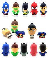 Wholesale New cartoon superhero suprheros warriors model usb flash memory stick pen drive G G G GB