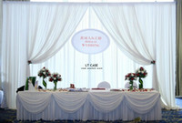 Wholesale Free Shippin Beautiful Pure White Red Wedding Backdrop Wedding Decoration Wedding Curtain For Wedding m by m
