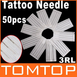 Wholesale 50 Disposable Round Shader Sterile Sterilized Tattoo Needles RS Dropshipping