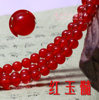 Wholesale Natural red chalcedony Malay jade gemstone round beads inch Fit Bracelet necklace