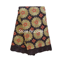 Wholesale High Quality Swiss voile lace Coffee Orange yards pack cotton African lace