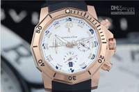 Casual admiral shipping - 2013 Promotion price Luxury Admirals Cup Chronograph LHS Rubber Band Gold bezel Men s Sport Watches Mans Wrist Watch