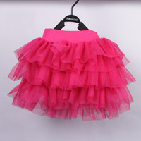 Wholesale Gauze tutu skirt girls clothing skirts skirts cake skirt princess dress beige pink yellow black light blue light west red deep west