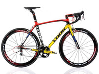Wholesale 2013 LOOK LIGHT Mondrian Carbon Road bicycle Frame with integrated Aerostem and crankset carbon road bike size XS M L