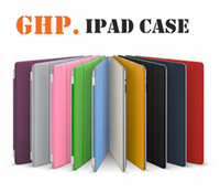 Wholesale Thin PU Leather case for iPad2 Smart Cover with Stand New Arrival made of PU Front Plastic Back CoverIntelligent sleep awake