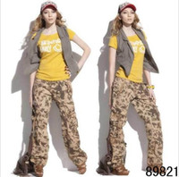 Wholesale 2013 Women s Clothing Womem Camo Cargo Pants Girls Harem Hip Hop Dance Costume Khaki Baggy Pants Plus Size Casual Trousers