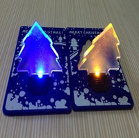 Wholesale Christmas gift New design Christmas tree Card lamp LED portable colored card lamp toys