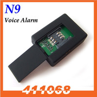Wholesale N9 Two way Mini GSM SPY Ear Bug Surveillance Device Using GSM Sim Card Hidden Audio Listening Tapping Device SIM Bugs Sound Recorder