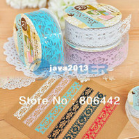 Wholesale Retail amp Cute Colorful Sweet Lace Stationery Tape Decorative Sticker DIY Tape Office Adhesive Tape