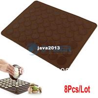 Wholesale Large x cm Silicone Nonstick Baking Sheet Mat DIY For Macaron Macaroon Pastry Cake Cookies TK0727