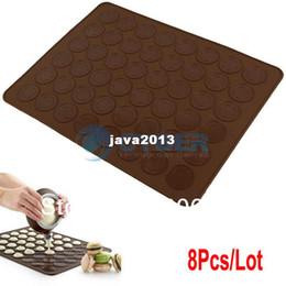 Х большой для продажи-8Pcs/Lot Большой 29 х 39см Силиконовый антипригарной противень Мат DIY Для Macaron миндальное печенье кондитера торт Cookies TK0727