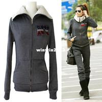 Wholesale 2013 New Fashion Women Sports Hoodies Set Berber Fleece Thickening Casual Sweatshirt Outerwear Plus Size
