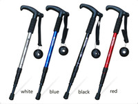 Wholesale Four collapsible handle outdoor Trekking Poles A collapsible T handle Trekking Poles