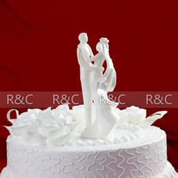 Wholesale wedding gift Exquisite Bride and Groom Design Classic Couple cake decoration wedding cake topper cake stand