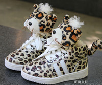 Wholesale EMS Free New Fashion Super Star Style Leopard Print Popular Leopard Print Animal Baby Kids Board Shoes Boys Girls Casual Shoes C0211