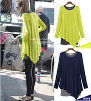 Wholesale Neon Green Cropped T Shirt Women Plus Size Faux Two Piece Ladies Shirt Patchwork Ruffle Blouse Fall Long Sleeve Loose Tops