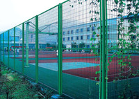 Wholesale Playground Mesh Fencing PVC Coated Surface Finish Green Color Opening mm