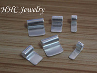 Wholesale 50pcs sterling silver brass pendant glue on bails glue on bail for pendant