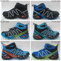 Wholesale The best comfort stability and protection salomon High Cut Shoes SPEEDCROSS hiking shoes Barefoot like feel of natural movement shoes