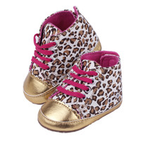 Wholesale Hot Sale Children s Shoes Gold Leopard Print Velcro Non Slip Soft Bottom Baby First Walker Shoes DDF2