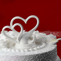 Wholesale wedding favors gift double Hearts cake decoration wedding cake topper cake stand