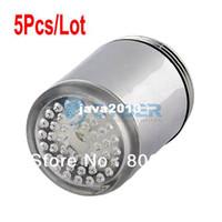 Wholesale Cheap Water Glow Shower LED Faucet Light Temperature Sensor Three Color Change