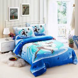 Wholesale Hatsune Miku japan anime girls kid duvet cover sheet pillow case set cotton PC single bed twin size children bedding comforter set gifts