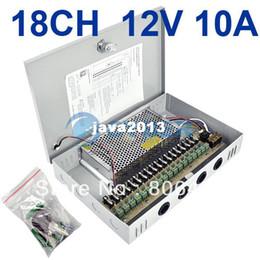 Frete Grátis 18 Canal CH CCTV / CCD Câmera de Segurança fonte de alimentação regulada Box 12V / 10A 2953