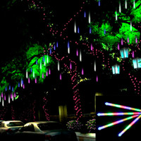 Wholesale 20CM Tube RGB Meteor Shower Rain Tube LED Light Outdoor Tree Decoration Icicle Light for Wedding Christmas Party Waterproof Tubes LEDs