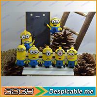 Wholesale 32GB Despicableme usb flash drive D Cartoon usb flash drive new gift Flash memory card
