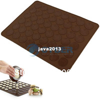 Wholesale Cheap Large x cm Macaron Baking Silicone Mat Cake Muffin Mold amp Decorating Tips Cream Squeezing Tool TK0727