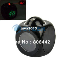 Wholesale Cheap LCD Clock Talking Projection Voice Sound Controlled Alarm Clock Desktop Digital Clock