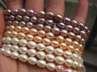 Wholesale DIY Jewelry materials mm natural freshwater pearl oval gemstone beads inch fit Bracelet necklace