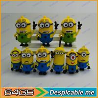 Wholesale 64GB Despicableme usb flash drive D Cartoon GB usb flash drive new gift Flash memory card