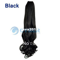 Wholesale Black Available Womens Clip in Ponytail Long Hair Piece Pony Tail Hair Extension