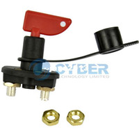 TK0287# Black+Red 60V/ 300 Amps New Battery Disconnect Switch Master Kill Cut-Off Marine RV with Quick Removable Key Free Shipping TK0287