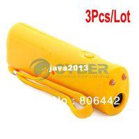 Wholesale 3Pcs Ultrasonic Pet Dog Repeller Dog Training Device Trainer Yellow