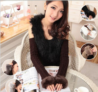 Wholesale NEW ARRIVAL winter Knitted Fingerless long Gloves Arm Warmers pairs mixed colors