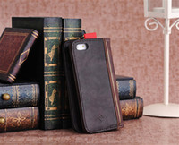 Wholesale For iPhone S iPhone S Retro Vintage BookBook case Luxury Genuine Leather Case Card Slot Holder