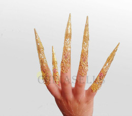 Wholesale hot ethnic dance avalokitesvara belly dance nail sets belly dance nail wrap India dance false finger nail dancing costume props accessories