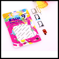 Wholesale Unlocking Card RSIM R SIM9 R SIM PRO Unlock Sim Official IOS IOS7 R Sim AUTO Unlock For iPhone S C S iOS X