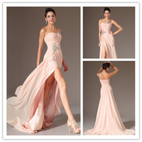 Wholesale - 2014 New Arrival Beaded One Shoulder Sexy High S...
