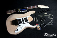 Wholesale DIY Electric Guitar Kit Solid Mahogany Body Maple Neck Unfinished MX